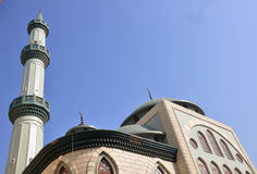 Belle mosquée verte Photographie stock