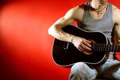 Belle musique rouge Photos libres de droits