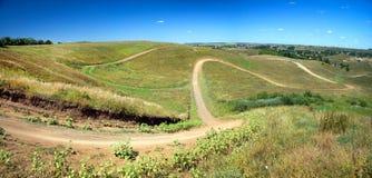 Belle natura e colline di paesaggio Fotografie Stock Libere da Diritti