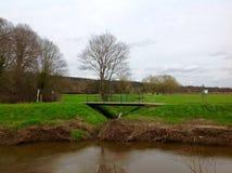 Belle nature verte avec le fond de l'eau et de ciel Photographie stock libre de droits