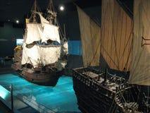 Belle navi di modello nel museo di Ayala, città di Makati, Filippine fotografia stock