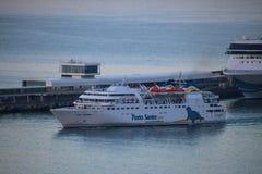 Belle navi e fodere di crociera Fotografia Stock