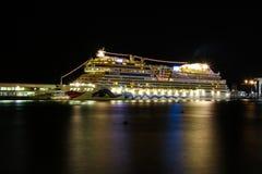 Belle navi e fodere di crociera Fotografie Stock Libere da Diritti