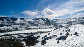 belle neige de ski d'horizontal de destination Photo stock