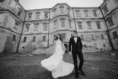Belle nozze delle coppie Fotografia Stock