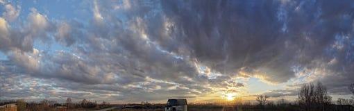 Belle nubi al tramonto Fotografia Stock