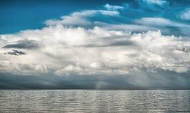 Belle nubi bianche Fotografie Stock Libere da Diritti
