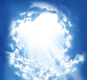 Belle nubi di fantasia Fotografia Stock