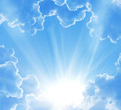 Belle nubi di fantasia Fotografie Stock
