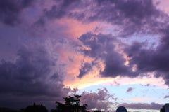 Belle nubi di tempesta Immagini Stock Libere da Diritti