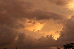 Belle nubi di tempesta Immagine Stock Libera da Diritti