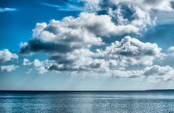 Belle nubi nel cielo Fotografie Stock