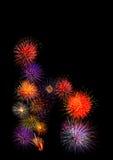 belle OIN colorée colorée de feu d'artifice du fireworksalphabet h Photos stock