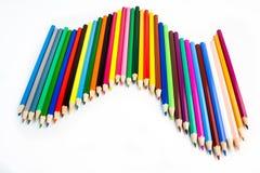 Belle onde des crayons colorés Photographie stock