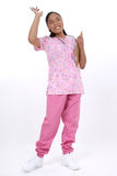Belle ondulation pédiatrique de sourire d'infirmière Photo stock