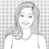 Belle pagine di coloritura della ragazza Fotografie Stock Libere da Diritti