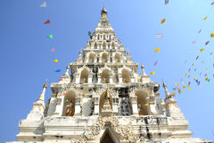 Belle pagoda blanche Photographie stock