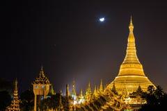 Belle pagoda de Shwedagon dans le monde Image stock