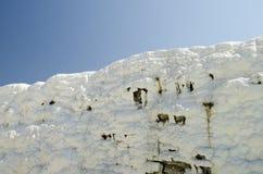 Belle pareti bianche di Pamukkale Fotografia Stock Libera da Diritti
