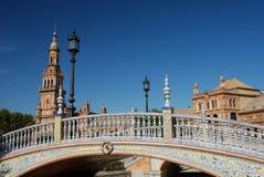 Belle passerelle sur Plaza de Espana Photos libres de droits