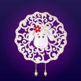 Belle pecore, illustrazione Fotografia Stock Libera da Diritti