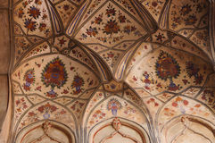 Belle peinture dans la mosquée de Badshahi à Lahore, Pakistan Photographie stock libre de droits