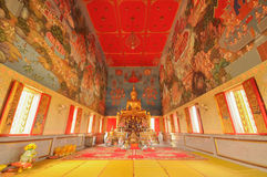 Belle peinture murale dans le temple thaïlandais. Photo stock