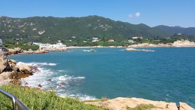 Belle perspective chez Shek O, Hong Kong Photo libre de droits