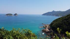 Belle perspective, plage de Ham Tin, Hong Kong image stock