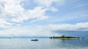 Belle petite île tropicale Photo libre de droits