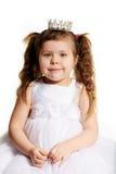 Belle petite fille avec la couronne de princesse Image libre de droits