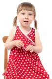 Belle petite fille avec le vernis à ongles Image stock