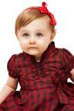 Belle petite fille drôle avec des œil bleu Photos stock
