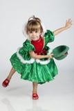 Belle petite fille le jour de Patrick de saint Photo stock
