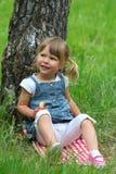 Belle petite fille sur la nature Images stock