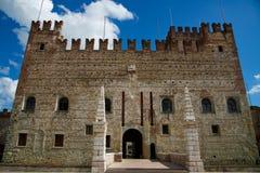 Belle petite ville de Marostica Vicence en Italie célèbre pour des arts et l'histoire photographie stock libre de droits
