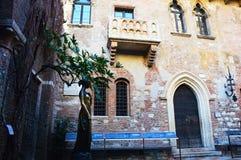 Belle photo de Juliet et de sa maison de balcon, Vérone, Italie Photos stock