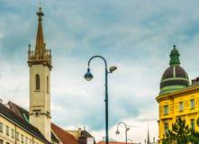 Belle photo de voyage des bâtiments historiques à Vienne Images libres de droits