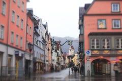 Belle photo du centre multicolore vibrante de rue dans Fussen, Bavière, Bavière, Allemagne images libres de droits