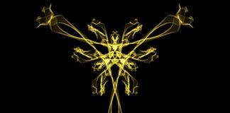 Belle photo graphique - la fleur ardente sur le fond noir Image libre de droits