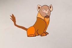 Belle photo un petit animal de lion Photographie stock