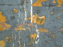 Belle pierre grise avec les taches oranges et blanches image libre de droits