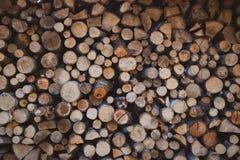 Belle pile de bois de chauffage image stock