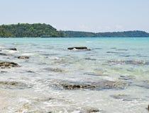 Belle plage à l'île de Kood Photo libre de droits