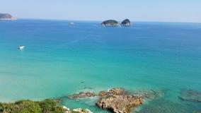 Belle plage à la plage de Ham Tin, Hong Kong photo libre de droits