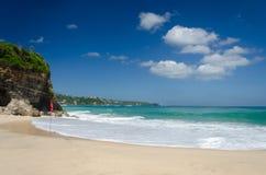 Belle plage Bali, Indonésie de pays des merveilles Photographie stock
