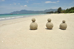 Belle plage blanche de sable au Vietnam Photos stock