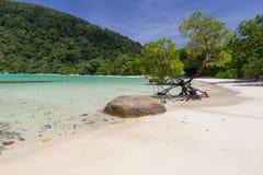 Belle plage blanche tropicale de sable images libres de droits