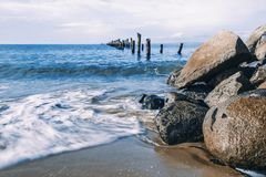 Belle plage chez Bridport, Tasmanie, Australie Photos stock