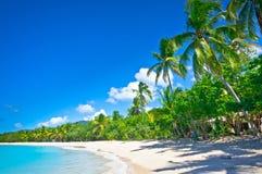 Belle plage dans le saint Lucia Images stock
